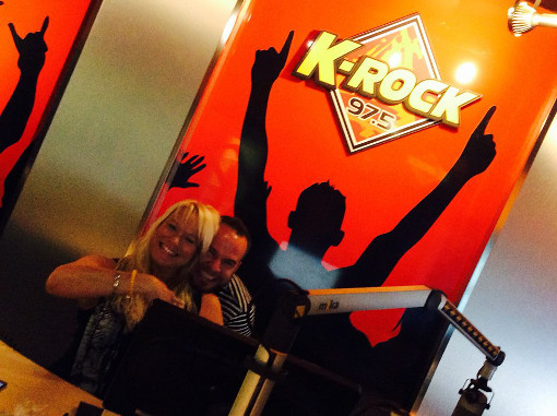 Photo. LRock at K-ROCK, August 2014